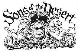 Sons of the Desert           escutcheon